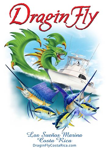 Shirt for Dragin Fly, Sport Fishing Boat located in Los Sueños Marina Costa Rica.