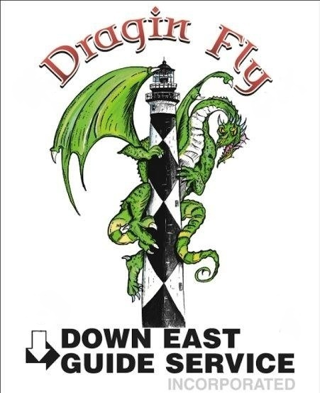 Front of Shirt for Dragin Fly and Down East Guide Service